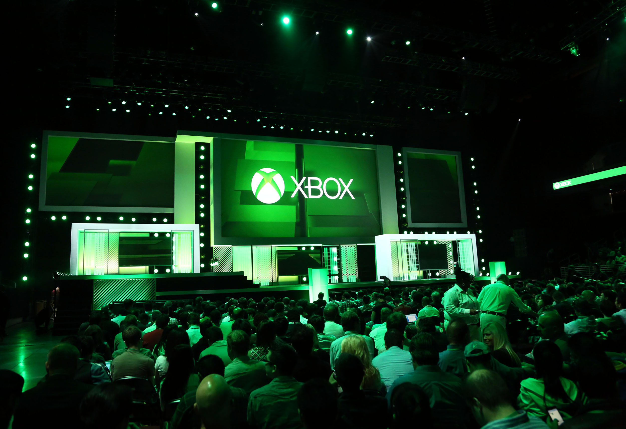 IMAGE DISTRIBUTED FOR MICROSOFT - Xbox E3 2013 Media Briefing at E3 2013 at the Galen Center on Monday, June 10, 2013 in Los Angeles. (Photo by Matt Sayles/Invision for Microsoft/AP Images)