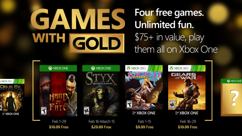 games with gold 2016 feb